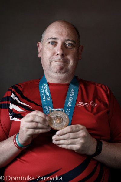 Matthew White, Great Britain Special Olympics Ten Pin Bowling athlete from Dundee, Scotland – Tayside region, Special Olympics games in Abu Dhabi, United Arab Emirates on March 21, 2019.