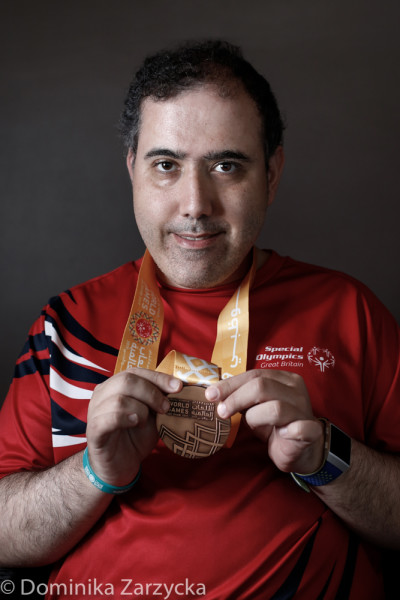 Ebrahim Eftekhar, Great Britain Special Olympics Ten Pin Bowling athlete from Dundee, Scotland – Tayside region, Special Olympics games in Abu Dhabi, United Arab Emirates on March 21, 2019.