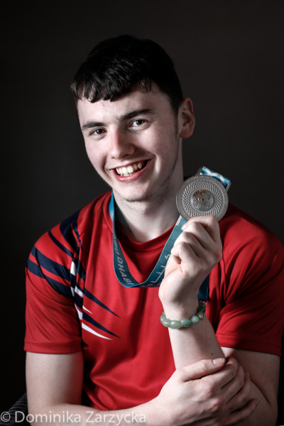 Alistair Kemley, Great Britain Special Olympics artistic gymnastics athlete from Glasgow, Scotland West region, Special Olympics games in Abu Dhabi, United Arab Emirates on March 21, 2019.
