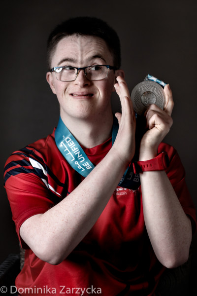 Sean Jewitt, Great Britain Special Olympics artistic gymnastics athlete from Stockton on Tees, Northern region, Special Olympics games in Abu Dhabi, United Arab Emirates on March 21, 2019.