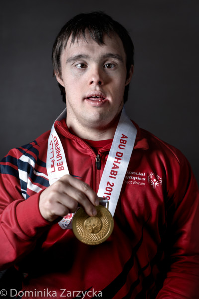 Andrew Macintyre, Great Britain Special Olympics artistic gymnastics athlete from Bridge of Weir, Scotland West region, Special Olympics games in Abu Dhabi, United Arab Emirates on March 21, 2019.