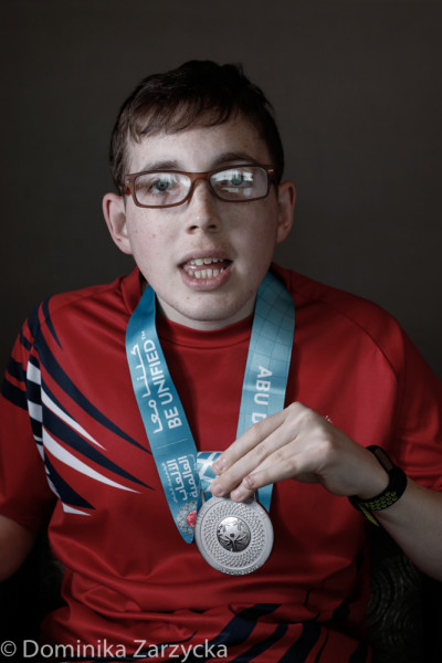 Michael Stevenson, Great Britain Special Olympics Ten Pin Bowling athlete from Edinburgh, Scotland – Lothian region, Special Olympics games in Abu Dhabi, United Arab Emirates on March 21, 2019.